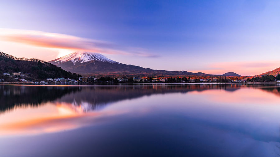 Mountain Reflection Scenics - Nature Beauty In Nature Sky Water Nature No People Cold Temperature Cloud - Sky