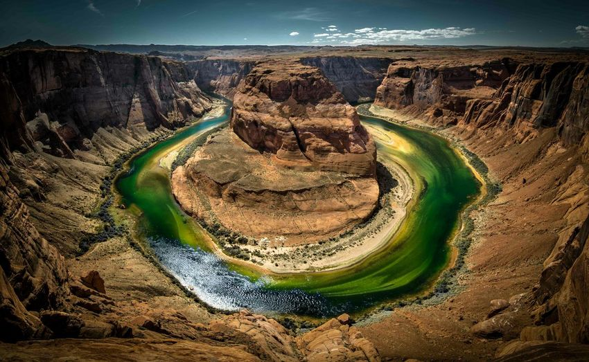 High Angle View Of Horseshoe Bend