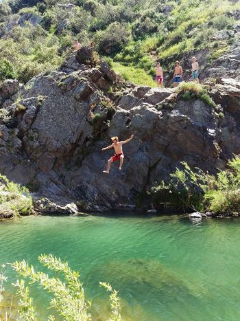 Swimming Hole Hiking Adventures Fun Hot Day Cool Water Emerald Water Creek Cool Hangout Secret Spot Out In The Hills Rock Jumping Cliff Jump Rocks Good Times In The Air Mountains Adult Playground Natures Playground