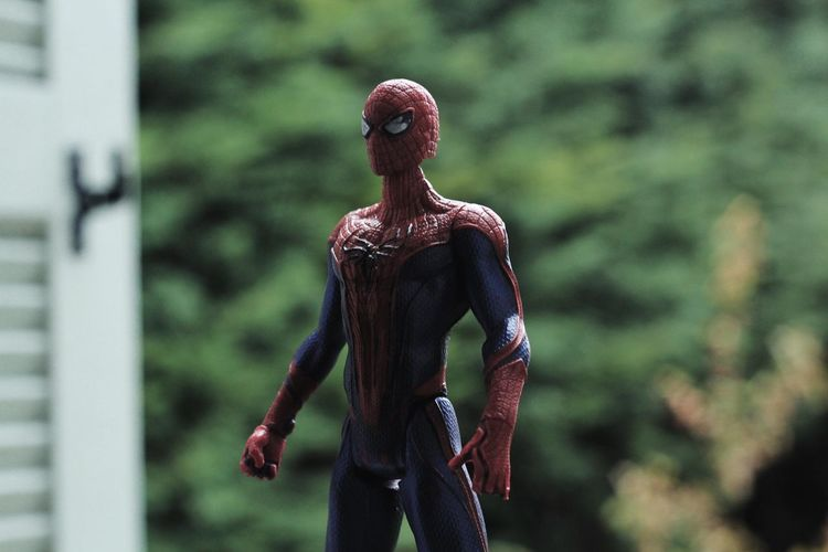 Spider Toys Day Focus On Foreground Outdoors Spiderman Statue Toystory