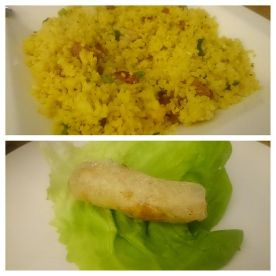 Esta Noche Vietnamese Food Rice and Loempia
