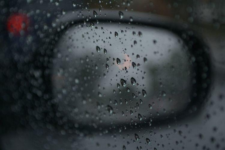 Raindrops Car Close-up Cold And Wet It's A Rainy Day Rain Rainy Season Wet