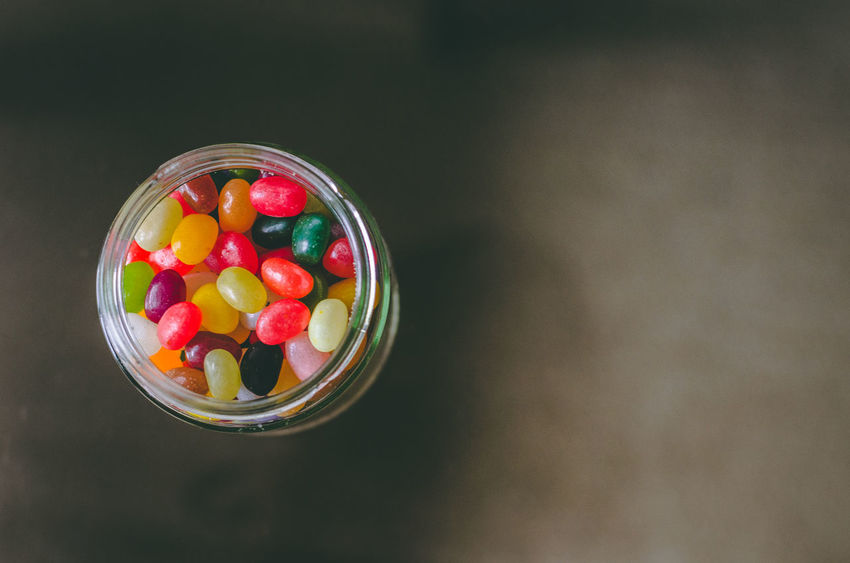 Chocolate Colourful Green Red Black Bubble Gum Candy Close-up Colour Day Dessert Food Food And Drink Freshness Gelatin Dessert Indoors  Indulgence Jellybean Multi Colored No People Ready-to-eat Serving Size Sweet Sweet Food Table Temptation Unhealthy Eating White Yellow Yummy