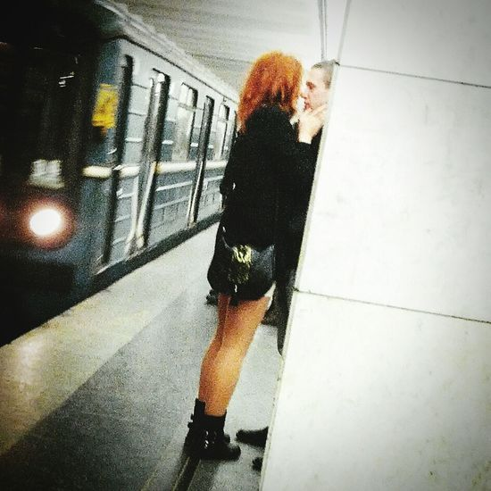 Romance Love Couple Youth Moscow Subway People Spying Feelings