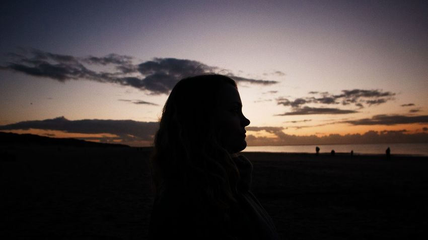 What is coming? 35mm EyeEm Selects Lonely Moody Sky Silhouette Sunset_collection The Week On EyeEm Wanderlust Beauty In Nature Leica Leica Lens Leicacamera Long Hair Mood Moody Nature One Person Outdoors Side View Silhouette Sky Standing Sunset Women
