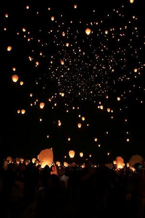 Lights Festival Celebration Of Lights Flying Holiday Illuminated Lanterns Lanterns In The Sky Lights Festival Night Nightphotography Paper Lanterns Peace People Season  Vertical