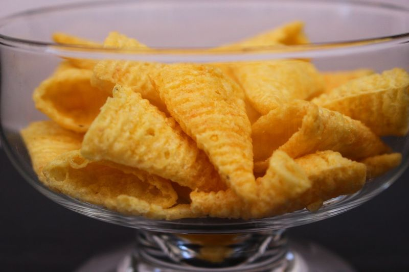 Appetizer Bowl Close-up Crunchy Day Detail Extreme Close-up Fast Food Food Food And Drink Food Photography Freshness Fried Glass Glass - Material Indoors  No People Ready-to-eat Snack Snack Time! Snacks Transparent Unhealthy Unhealthy Eating Visual Feast