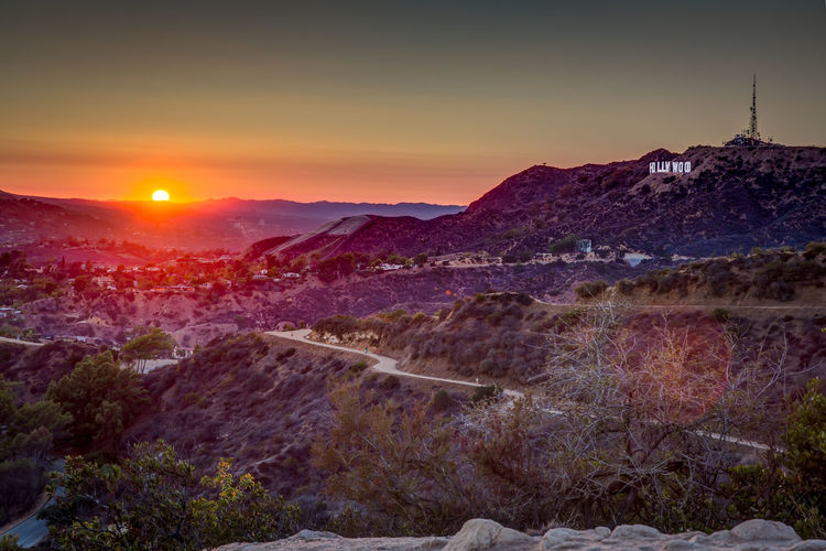 Sunset in the Hills of Hollywood Hills Hollywood Hollywood Hills Hollywood Sign Los Angeles, California Landscape Natur Sun Sunset EyeEmNewHere An Eye For Travel California Dreamin