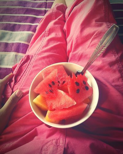 Healthy Eating Fruit Food Freshness Bowl Day Red WaterMELONS