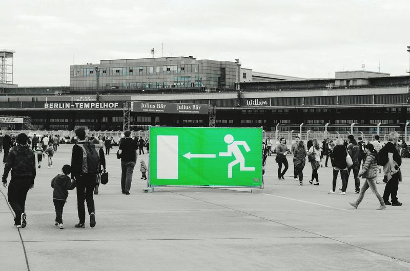 Capture Berlin Tempelhofer Feld Airport Runway Airport Emergency Exit Exit Notausgang Green Color Blackwhitecolour Outdoors Architecture Tempelhof New Sign City People Citylife Berliner Ansichten Singns Of Life Berlin Photography My Fucking Berlin My Fuckin Berlin Myfuckingberlin Traveling Home For The Holidays The Street Photographer - 2017 EyeEm Awards