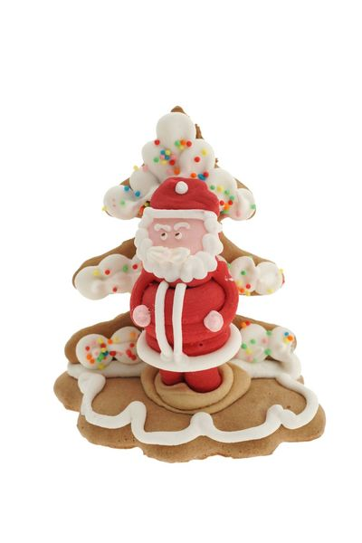 Cute ginger Santa Isolated White Background Isolated CutOut Cut Out Nobody Sugar Sweet White Xmas Santa Claus Santa Lebkuchen Gingerbread Sweet Food Celebration Food And Drink Sweet White Background Food Baked Studio Shot Holiday Christmas Cookie No People Decoration Icing