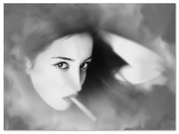 EyeEm Best Shots - Black + White My Love picture taken by Lina Look Me In The Eyes Look Into My Eyes... Smoking Seduction Portrait Of A Woman Avant Erotica Black And White Portrait