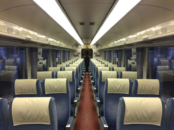 empty inside japanese night train . High Japan Light Retro Transportation Cabin Car Empty Express High Angle View Indoors  Inside Night Old Seat Seating Speed Train Vintage Way Window