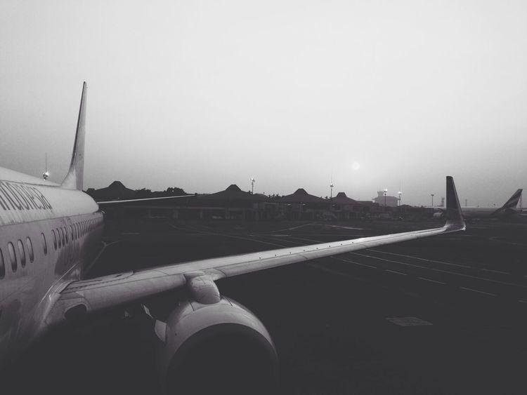 Blackandwhite Jet Airport Last-minute Flight