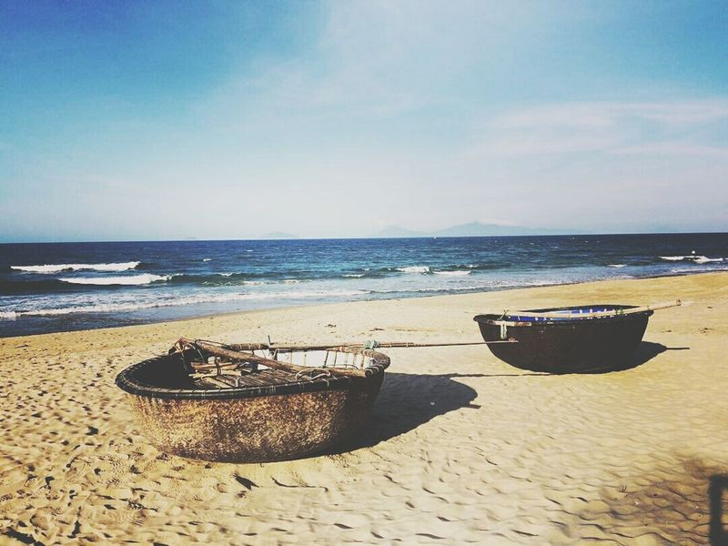 Beaches Of The World Photooftheday Anbangbeach Hoian  Sand Sea Phtotoftheday Picoftheday Vietnambeauty No People Beach Horizon Over Water Water Sunlight Sunny Sky Nature Vacations Summer Scenics Beauty In Nature Outdoors Day Wave Nautical Vessel