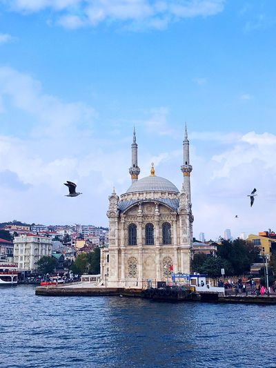 Coastal scenery of the Bosporus Bosporus Mosque Mosque Architecture Architecture Sky Built Structure Building Exterior Cloud - Sky Water Travel Destinations Waterfront Nature Travel City Building Tourism No People River Day Outdoors The Past