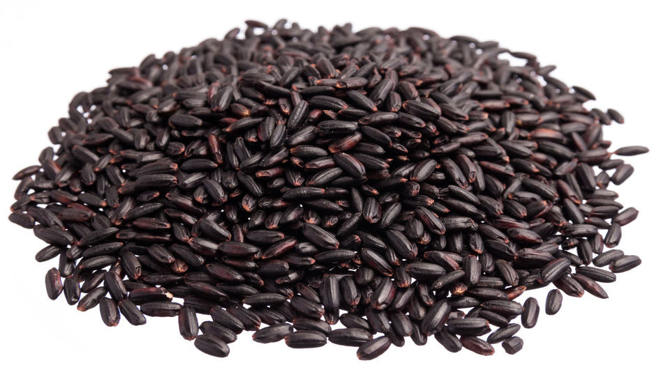 Abundance Close-up Food Food And Drink Freshness Healthy Eating Heap Large Group Of Objects No People Stack Still Life Studio Shot White Background Black Rice Rice - Cereal Plant