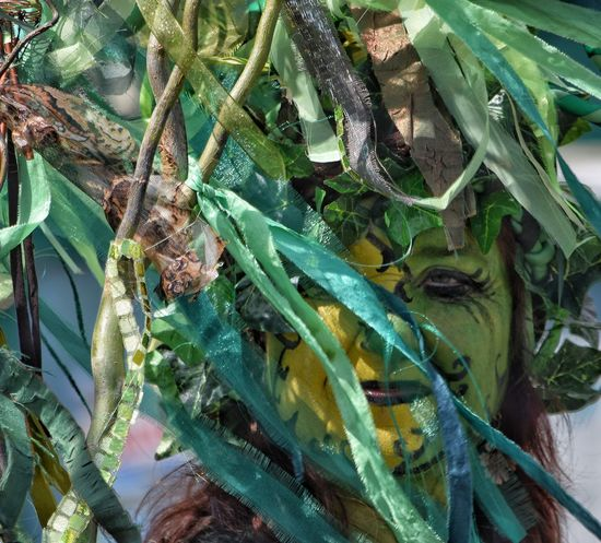 Jack In The Green Festival May Day 2017 Jack In The Green East Sussex Hastings Green Color Day Plant Celebration Pagan Festival Pagan Green Color Masks Growth Outdoors Nature Face Paint Traditional Festival Headdress Lifestyles Arts Culture And Entertainment Carnival Parade Performance Live For The Story