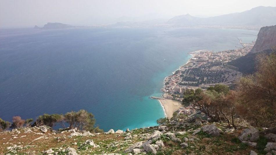 Palermo Italy🇮🇹 Sicily ❤️❤️❤️ Coastline Landscape Nofilter Nature Belpaese Natura Sicilia Holidays ☀ Mediterranean  Mediterrean Sea Sea Sea And Sky Mar Mediterráneo