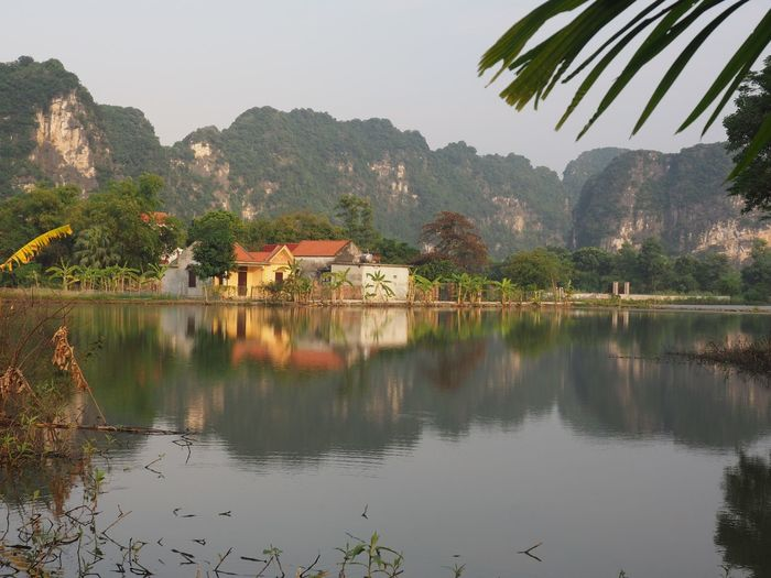 'The inland Ha Long Bay' Tam Coc Water Reflection Tree Plant Mountain Nature Beauty In Nature No People Tranquility Building Exterior Waterfront EyeEm Nature Lovers Flowers