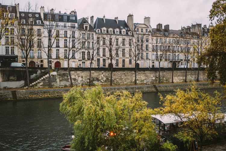 Paris Architecture City River Seine Outdoors Waterfront Building Exterior Travel Destinations