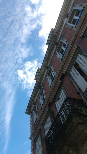 Low Angle View Sky Architecture Building Exterior Cloud - Sky Window Built Structure Outdoors Day No People City