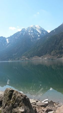 The beautiful nature. Summer Exploratorium Water Mountain Snow Tree Lake Hiking Pinaceae Clear Sky Reflection Forest