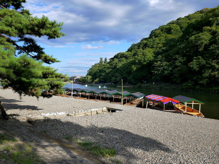 Arashiyama Japan Mountain No People River River Boats Sky Tourism Tranquil Scene Travel Destinations Trees Water