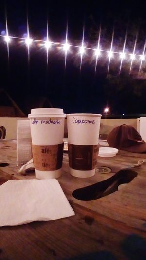 No People Text Indoors  Night Close-up Illuminated Coffee Time