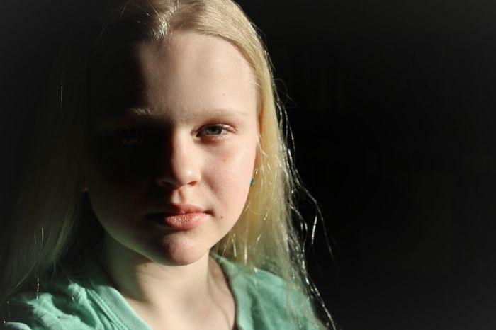 Beautiful People Beauty Black Background Blond Hair Close-up Headshot Human Body Part People Portrait