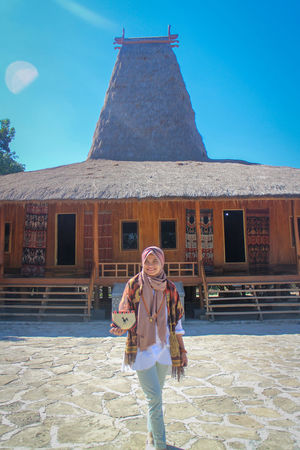sumba timur City Full Length Togetherness Standing Women History Walking Traditional Clothing Sky Architecture