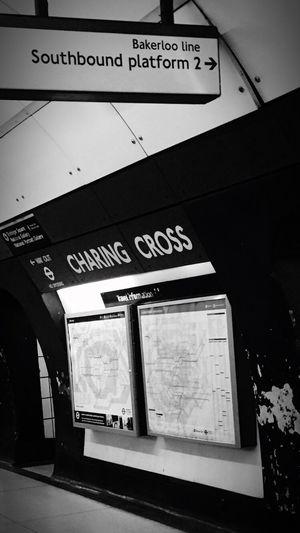 London Underground black and white for someone special ;) London Underground Transportation Charing Cross Charing Cross Station Walking Around Taking Photos Enjoying Life LONDON❤ Balck And White