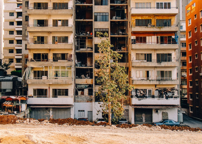 Apartment Beirut Broken Building Exterior Built Structure City Damaged Day Delapidated Disrepair No People Outdoors Residential Building