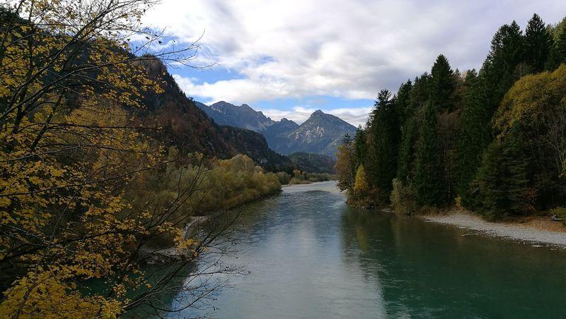 Lech River Füssen, Bayern, Deutschland Beauty In Nature Outdoors
