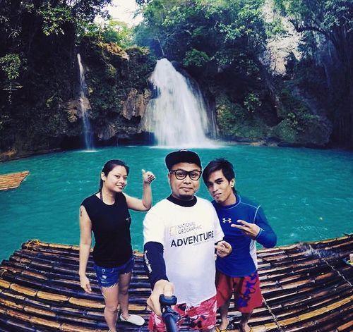 At Kawasan Falls with guide after Canyoneering Badian,Cebu. Philippines