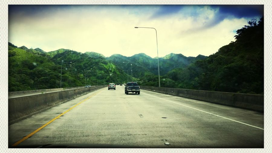 Driving on the H3 going back to the darkside. Taking Photos Hawaii Tunnel Islandlife