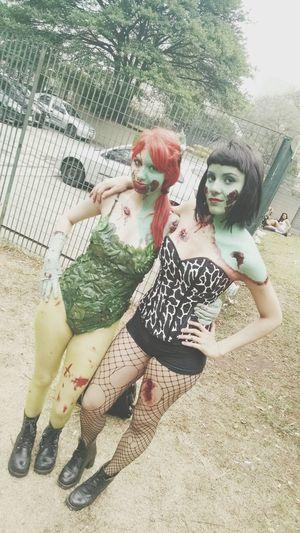 Zombiewalk  She-hulk Poison Ivy Sao Paulo - Brazil People Photography Saopaulo Girls Photooftheday Friend