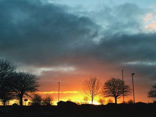 Hebburn Sunset Winter Cold Red Sky