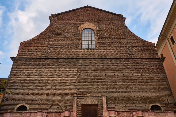 Bologna Bologna Italy Church Façade Texture Architecture Religious Architecture Medieval Architecture Historic Historical Building Built Structure Building Exterior Low Angle View Sky No People Religion