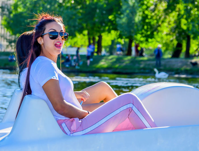 SexyGirl.♥ Sexylips Beautiful Woman Day Fashion Focus On Foreground Hairstyle Happiness Leisure Activity Lifestyles Nature One Person Outdoors Portrait Real People Relaxation Sexygirl Sitting Smiling Sunglasses Swimming Pool Women Young Adult Young Women