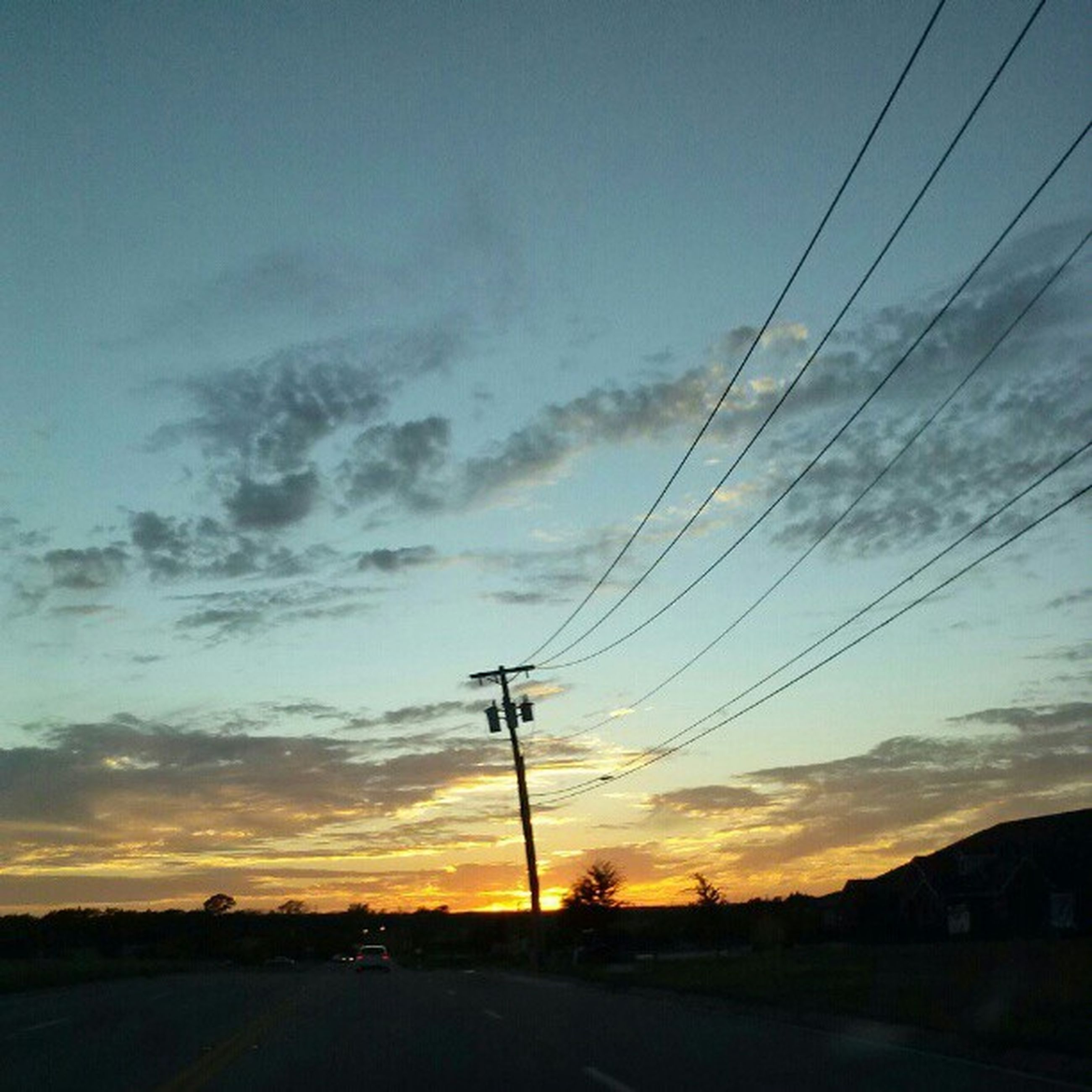 electricity pylon, sunset, power line, sky, road, electricity, power supply, silhouette, fuel and power generation, transportation, connection, landscape, cable, the way forward, cloud - sky, cloud, tranquil scene, tranquility, scenics, nature