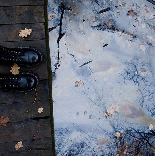 first photo of a series i did on some of my favorite music. this one is called 'a fine day to exit'. The Shoes From Where I Stand