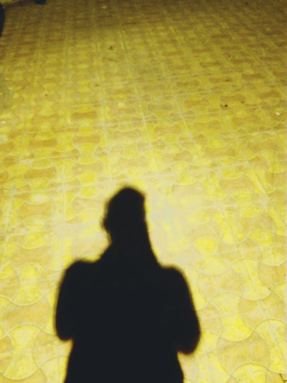 shadow, focus on shadow, silhouette, real people, yellow, one person, men, sunlight, standing, indoors, day, people