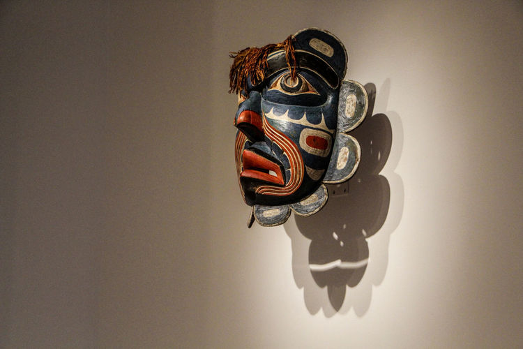 Representation Indoors  Close-up No People Art And Craft Creativity Mask Human Representation Studio Shot Still Life Disguise Mask - Disguise Male Likeness Metal Wall - Building Feature Single Object Copy Space Black Color Autumn Mood