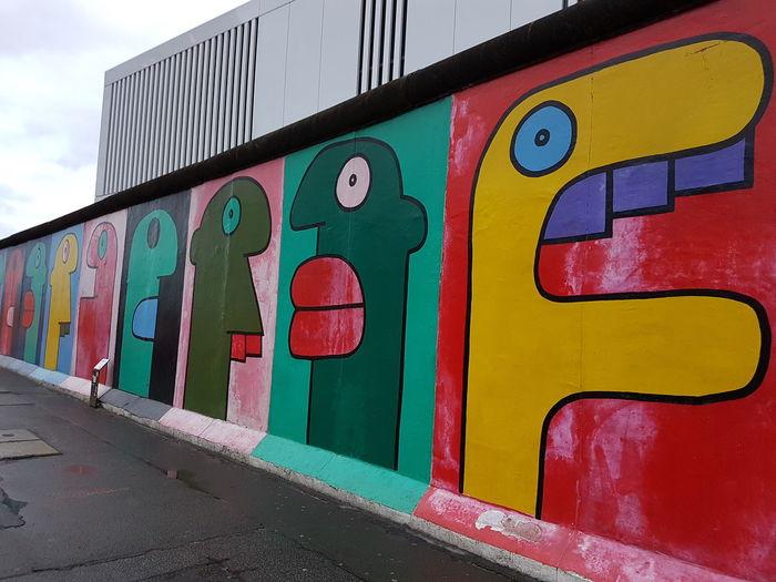 #berlin #street #wall Graffiti Multi Colored Street Art Day No People Outdoors