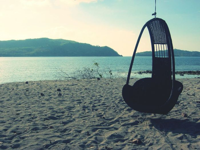 Rest Beach Sea Water Swing Sky Nature Outdoors Beauty In Nature Day First Eyeem Photo