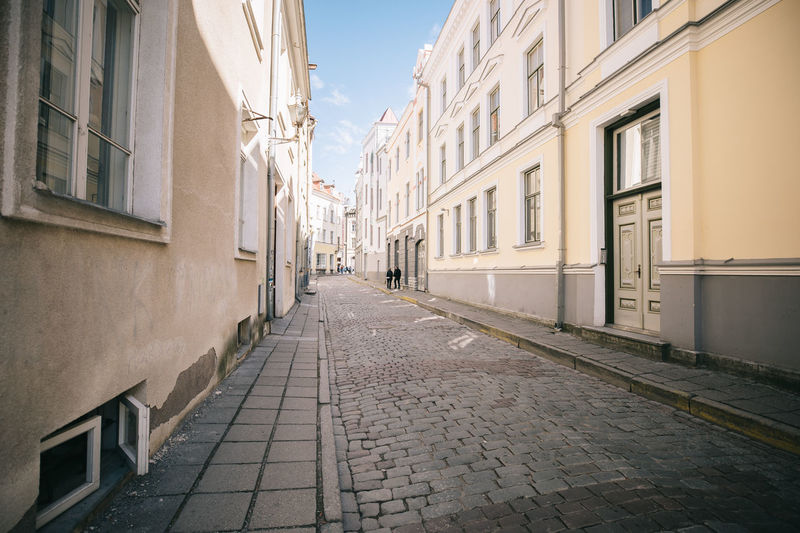 Tallinn Estonia Architecture Building Exterior Built Structure Direction The Way Forward City Street Building Footpath Cobblestone No People Window Day Residential District Diminishing Perspective Outdoors Empty Sky Nature Alley Paving Stone Row House Long The Minimalist - 2019 EyeEm Awards
