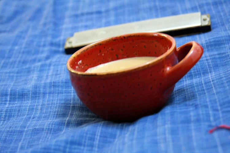Chai aka tea Blue Blue Background Brown Brown Tea Cup Close-up Coffee Coffee Time Composition Cuppa Evening Tea Hot Chai Tea Interesting Mug Kurta Mouth Organ Music Still Life Tea Tea Cup Liquid Lunch