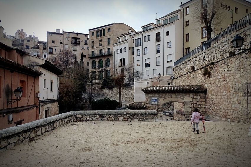 Walking through Cuenca, medieval city. Sand Park Medieval Architecture MedievalTown Children Park Architecture Building Exterior Built Structure Outdoors Day Real People Sky City Childhood Full Length One Person Standing