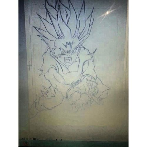 Gohan ink draw by nico Draw Dessins Artaddict Dibujo digitalart mangaka animexmanga art dragonball dragonballz dbz gohan otaku mangastudio photoshop tagsforlikes followme